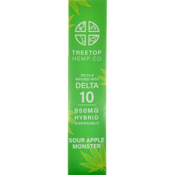 Tree Top Hemp Co Delta 8 & Delta 10 Vape Pen Sour Apple Monster 1g