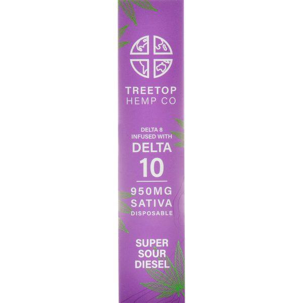 Tree Top Hemp Co Delta 8 & Delta 10 Vape Pen Super Sour Diesel 1g