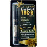 Utoya THC-O Vape Cartridge Banana Runtz 1g