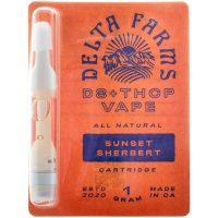 Delta Farms Delta 8 & THCP Vape Cartridge Sunset Sherbert 1g