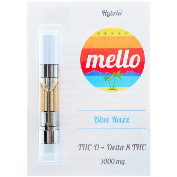 Melo Delta 8 & THC-O Vape Cartridge Blue Razz 1g