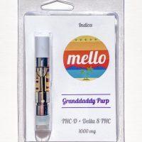 Melo Delta 8 & THC-O Vape Cartridge Granddaddy Purp 1g