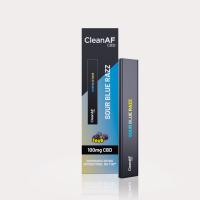 CleanAF Puff CBD Vape Pen Sour Blue Razz 100mg