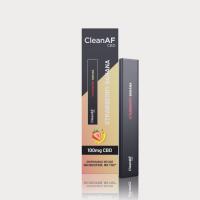 CleanAF Puff CBD Vape Pen Strawberry Banana 100mg